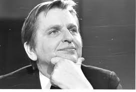 Olof Palme var på tv-rutan, när Christer Andersson skjöt sit tv sönder.